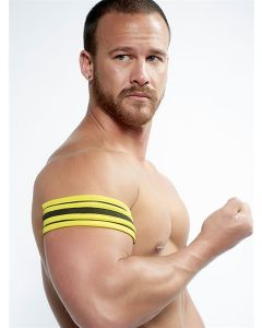 Mister B Neoprene Biceps Band Black Yellow