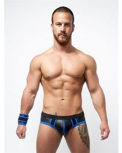 Mister B Neoprene Jock Brief Black Blue