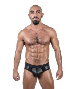 Mister B Neoprene Jock Brief Black