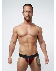 Mister B Neoprene Jockstrap Black Red