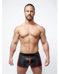Mister B Neoprene Pouch Shorts Black Red