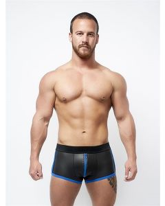 Mister B Neoprene Shorts 3 Way Full Zip Black Blue