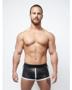 Mister B Neoprene Shorts 3 Way Full Zip Black White