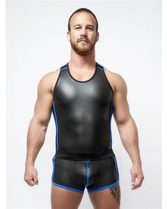 Mister B Neoprene Tank Top Black Blue