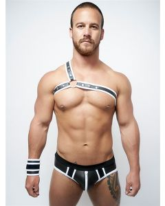 Mister B Neoprene Triangle Harness Black White