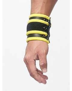 Mister-B-Neoprene-Wrist-Wallet-Black-Yellow