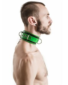 Mister-B-Rubber-Collar-Lockable-Black-Green