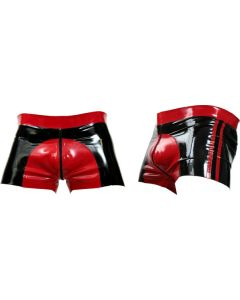 Mister B Rubber Shorts Red Saddle