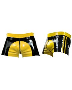Mister B Rubber Shorts Yellow Saddle