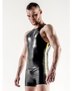 Mister-B-Rubber-Trunks-Black-Neon-Yellow-Stripe-L