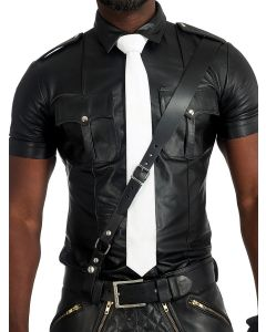 Mister-B-Leather-Tie-Stitched-White