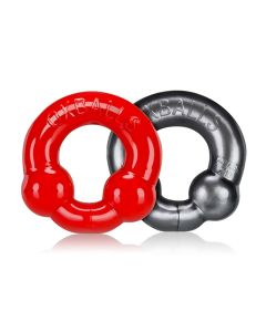 Oxballs-ULTRABALLS-2-Pack-Cockring-Steel-Red